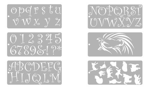 stencils decorativos para pintura set x 6 unidades promo