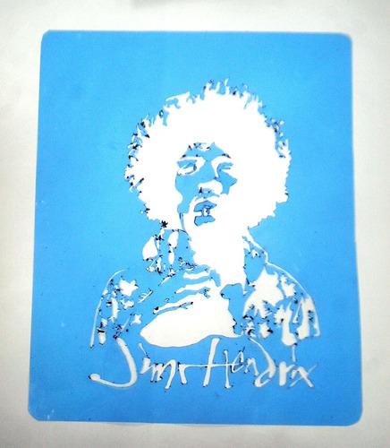 stencils jimi hendrix pink floyd queen lote x3 unidades