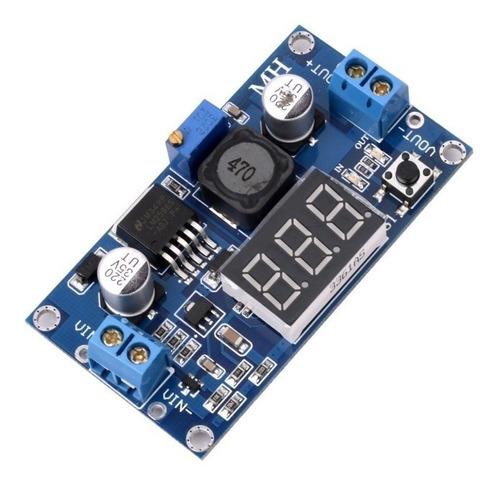 step-down lm2596 display regulador de tensão ajustável dc-dc