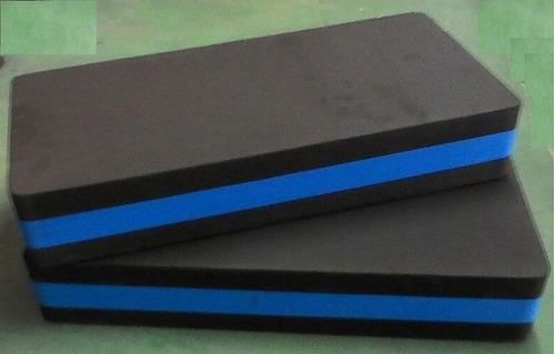 step eva 60x28x10cm aeróbica - cor azul