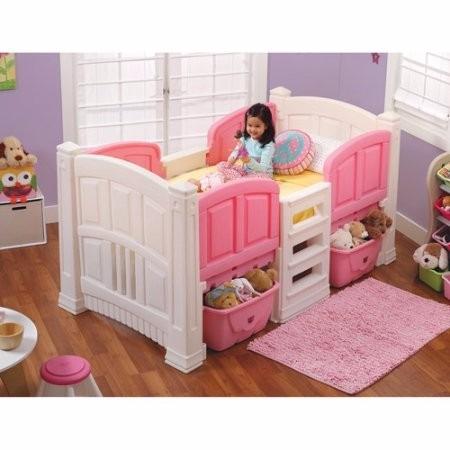 Step2 girl 39 s loft and storage cama para ni as princesa - Cama princesa nina ...