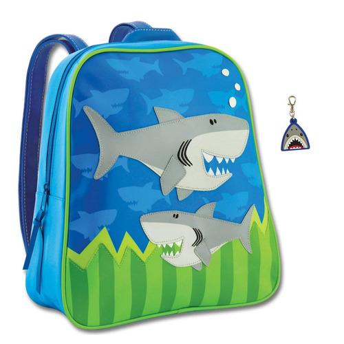 stephen joseph mochila de tiburón para niños y cremallera