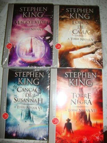 stephen king a torre negra volumes 4, 5, 6, 7 ( novos )