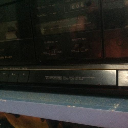 stereo aiwa retro, double casette deck para revisar. vintage