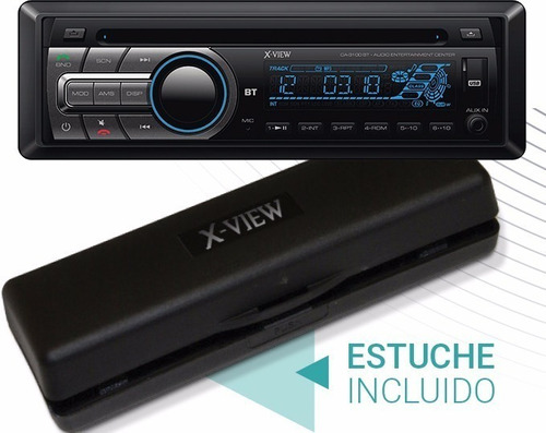stereo auto xview ca3100 bluetooth mp3 usb aux sd cd