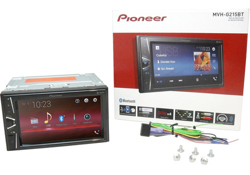 stereo con pantalla tactil 6,2 pulgadas pioneer bluetooth mvh 215 usb nuevo 2019 mvh-g215bt