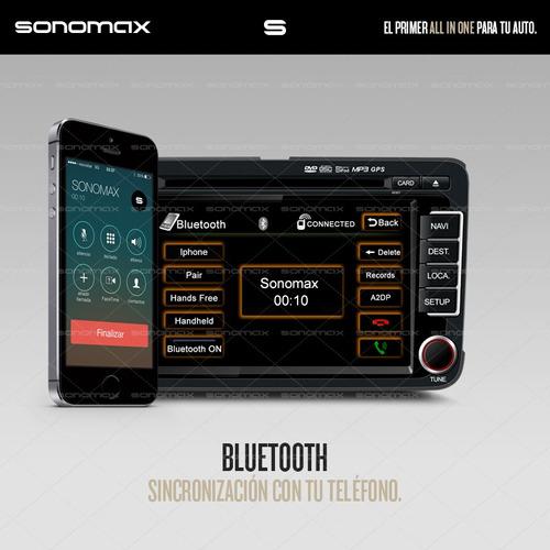 stereo gps garmin dvd tv ipod usb bluetooth vw vento sonomax