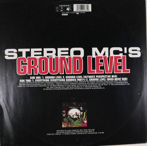 stereo mc's - ground level single importado uk lp