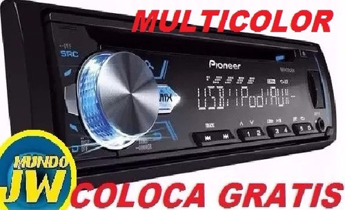 stereo pioneer deh-x1 mixtrax usb cd reemplaza 3850/3750 jw