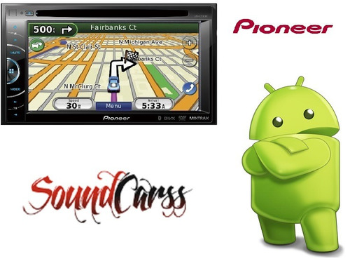 stereo pioneer gps tv digital avh x usb soble din zona sur!!
