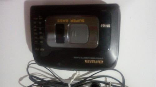 stereo radio cassette player aiwa ta 163 super bass.