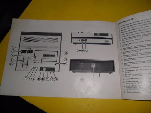 stereo recorder 82 hifi itt schaub lorenz instrucciones