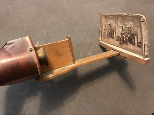 stereoscope viewer antiguo + 14 imágenes