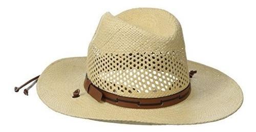stetson sombrero de paja con ventilacion panama para hombres