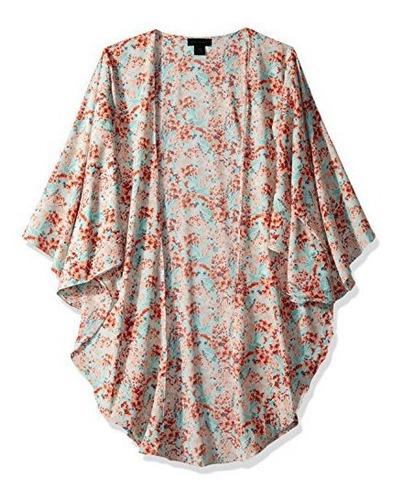 steve madden womens long floral duster kimono cardigans casu