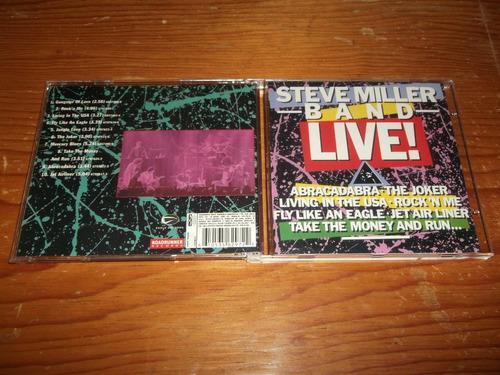 steve miller band - live cd importado ed 1990 mdisk