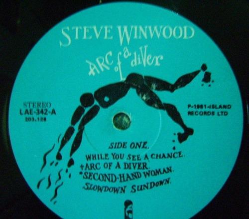 steve winwood / arc of a diver 1 disco lp vinil