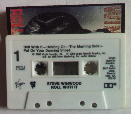 steve winwood, roll with it, cassette tape importdo