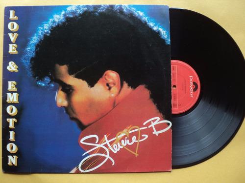 stevie b- lp love & motion- 1991- original- zerado!
