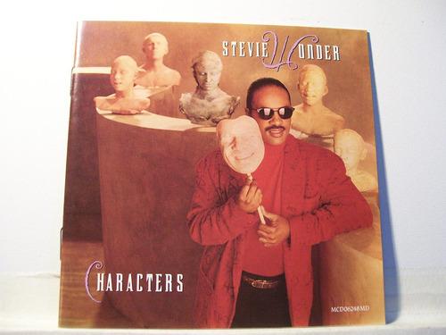 stevie wonder, characters, 1987, cd imp japão orig raridade