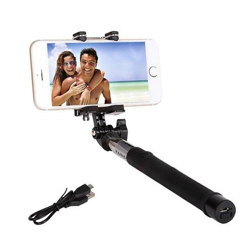 stick inalámbrico selfie, kapas plegable 3.5f + envio gratis