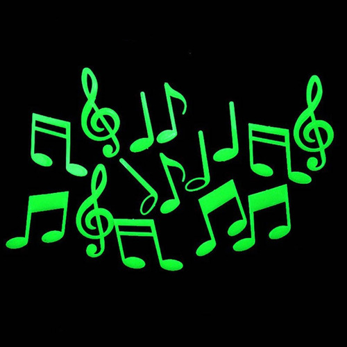 stick luminoso 3d notas musicais brilha no escuro