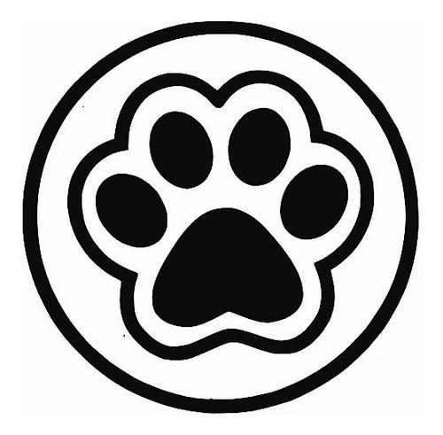 sticker adhesivo carro huella perro 5cm x 5cm varios diseños