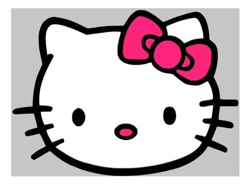 sticker adhesivo decorativo hello kitty carro 10cm x 14cm