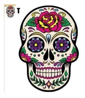 sticker auto katrina catrina dia de los muertos s69