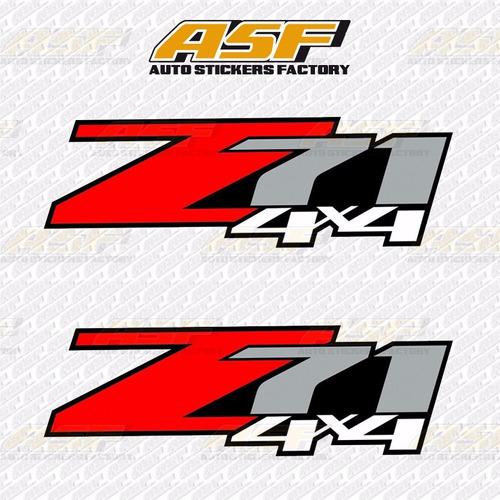 sticker autos calcomania vinil - logo z71 4x4
