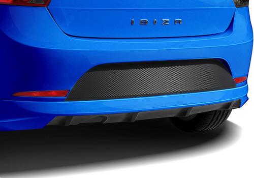 sticker black out fibra de carbon y negro mate liso para fascia trasera de ibiza 2010 al 2017 2 ó puertas