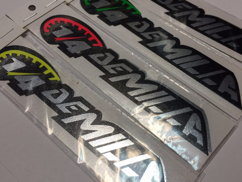 sticker calco vinilo tuning 1/4 de milla 16cm  .x unidad