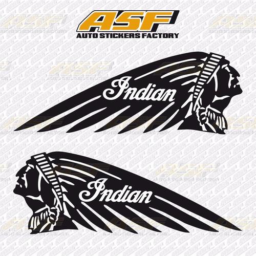 sticker calcomania vinil - logo indian motorcycle indio