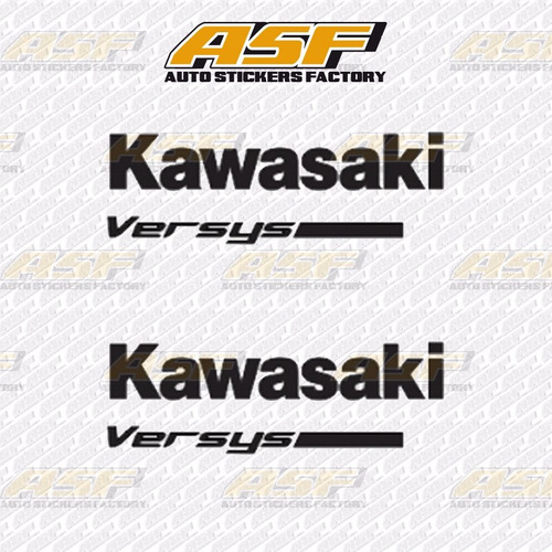 sticker calcomania vinil - logo kawasaki versys