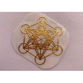 Sticker De Cobre Cubo De Metatrón Geometría Sagrada Altares