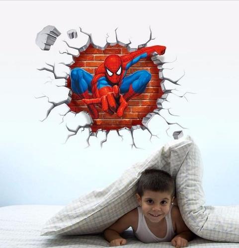 sticker de muralla spiderman (hombre araña)