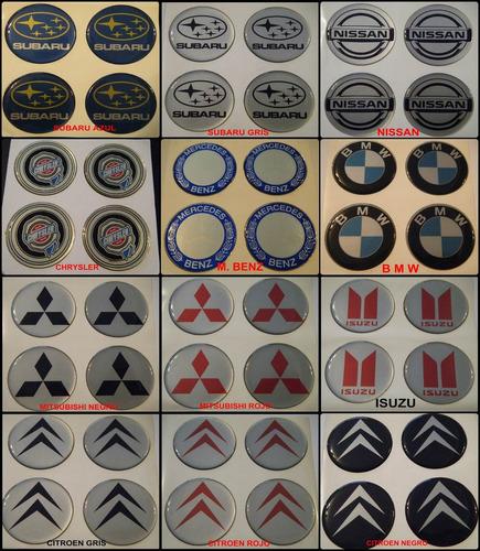 sticker logo centro de llanta- insignia autoadhesiva 49mm