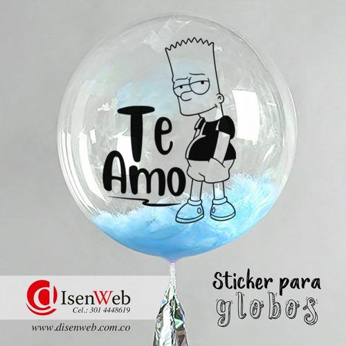 sticker para globos, adhesivos decorativos / pack de 50 unid