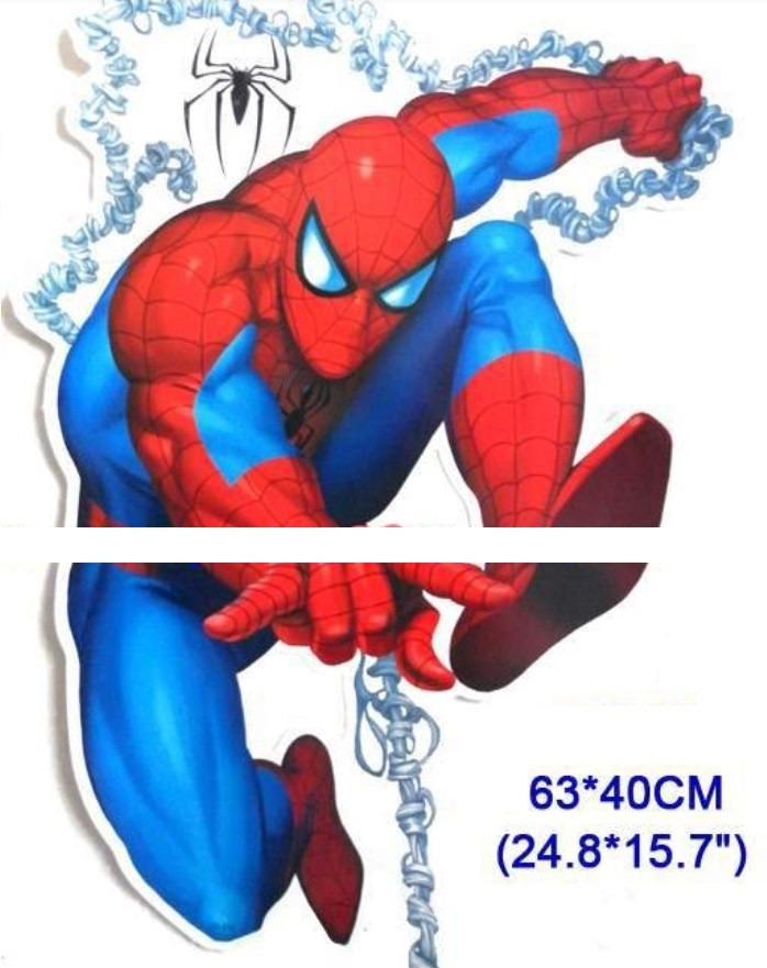 Sticker pared spiderman hombre ara a decoracion cuarto for Cuartos decorados hombre arana