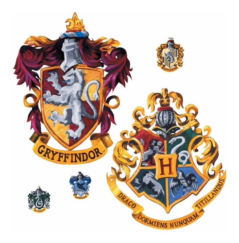 sticker pegatina escudos de hogwarts harry potter decoración