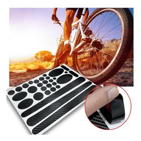 Sticker Protector Tipo Carbono / Cadena Bicicleta Multiusos