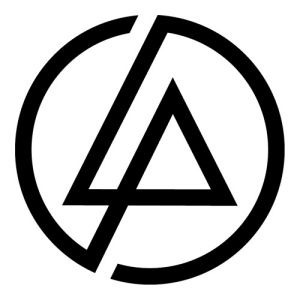 sticker vinil autoadherible linkin park logo lp (20 x 20 cm)