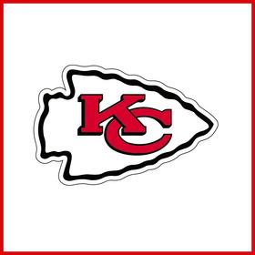 Sticker Vinil Calcomania Kansas City Chiefs 24x16cm