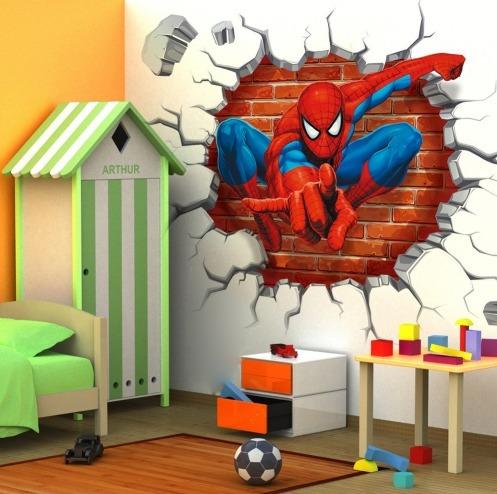 sticker vinilo decorativo - spiderman hombre araña 45x50cm