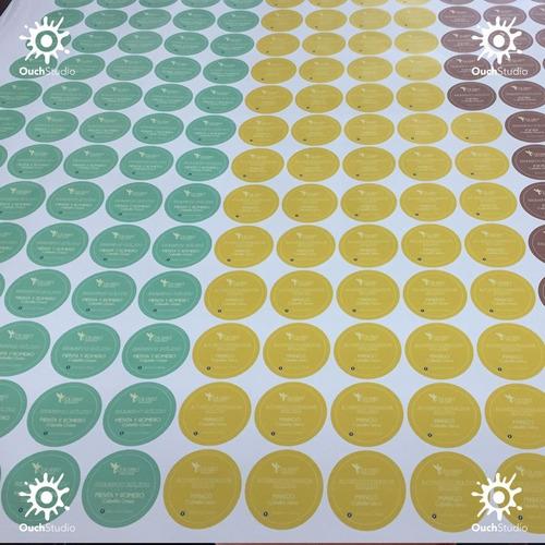 stickers 160pzs de 5x5cm impresos y cortado con envio