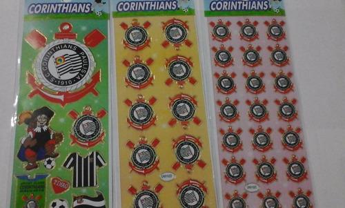 stickers adesivos times - 12 cartelas - corinthians, palmeir