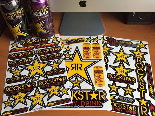 stickers adhesivos rockstar energy drink