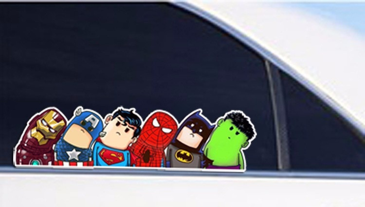 Stickers avengers liga de la justicia s 7 00 en for Donde venden stickers para pared