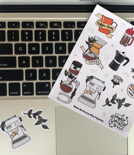 stickers barista infusores diseño coffee lover
