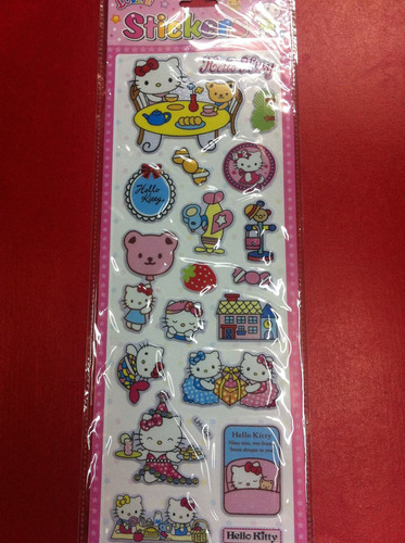 stickers calcomanias disney, hello kitty foami 3d